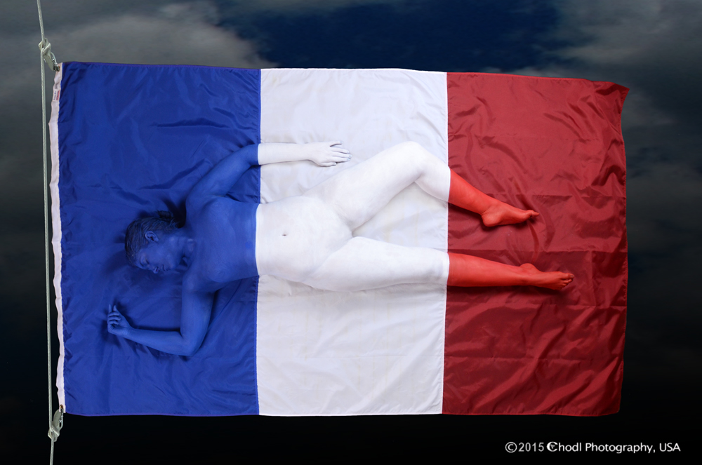 French Flag by Cheryl Ann Lipstreu